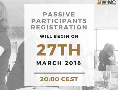 Passive Participants registration date announced!