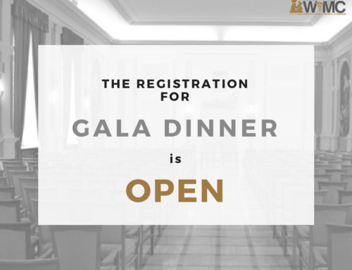 Registration for Gala Dinner is open!